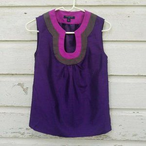 Banana Republic Purple Color Block Top